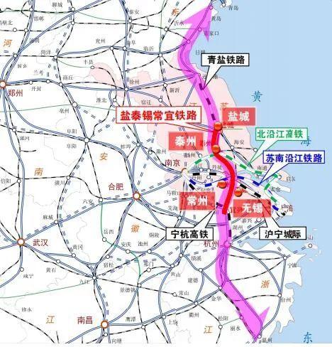 泰州高铁大爆发,盐泰锡常宜铁路和北沿江高铁互联互通
